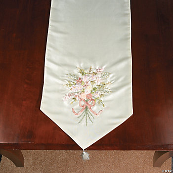 Ribbonwork Floral Table Runner