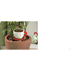 Tea Cup Plant Watering Stakes