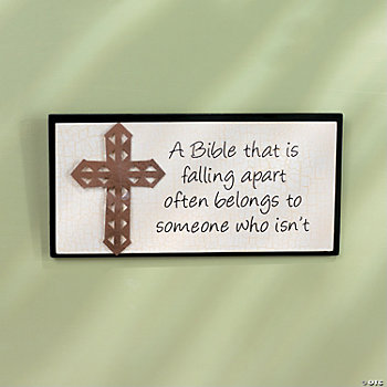 """A Bible That Is Falling Apart"" Plaque"