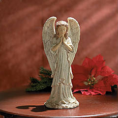 Praying Angel With Glitter