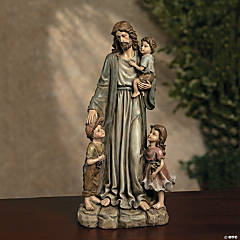 Jesus & The Children Statue