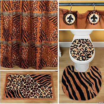 Home decor accents holiday decorations accessories for Cheetah bathroom ideas