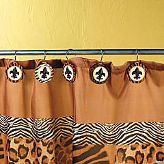 Animal Print Shower Curtain Hooks
