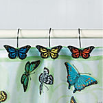 Butterfly Bathroom Curtain Hooks
