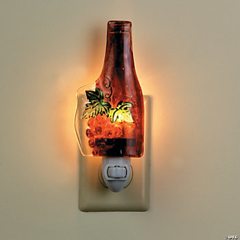 Fused Glass Wine Bottle Night-Light