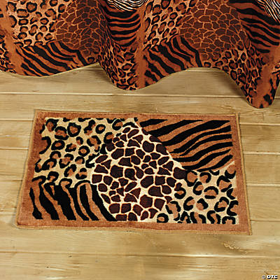 Home decor accents holiday decorations accessories for Animal print bathroom ideas