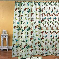 Butterfly Bathroom Shower Curtain