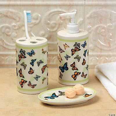 Butterfly bathroom accessories oriental trading discontinued