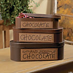 """Chocolate"" Stacking Boxes"
