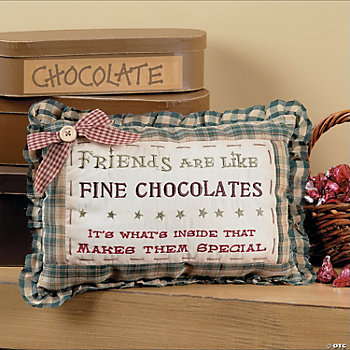 """Fine Chocolate"" Pillow"