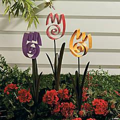 Tulip Swirl Yard Stakes
