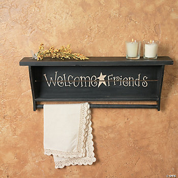 """Welcome Friends"" Shelf"