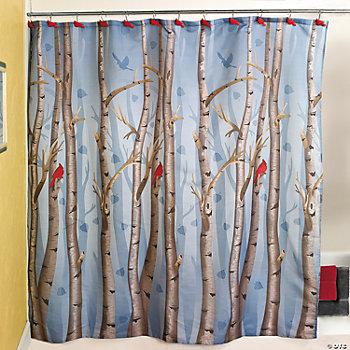 Polyester Birch Tree Shower Curtain
