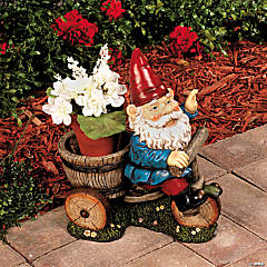 Gnome on Bike Flowerpot Holder