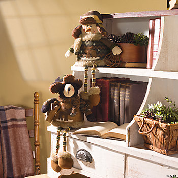 Plush Camouflage Bear Shelf Sitter