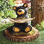 Bear with Fish Birdfeeder
