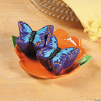 Butterfly Salt & Pepper Shakers on Flower