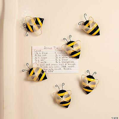 Bee magnets party supplies kitchen home decor for Bee decorations for the home