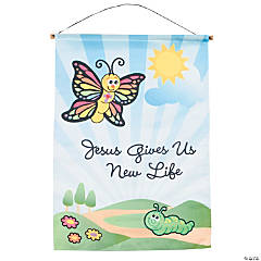 """Jesus Gives Us New Life"" Banner"