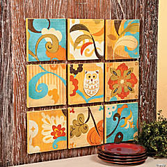 Owl Square Wall Art Set