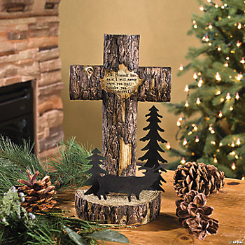 Wooden Finish Tabletop Cross