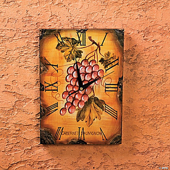 Decorative Clock with Grapes