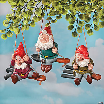 Gnomes on Garden Tool Swings