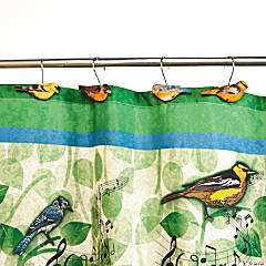 Bird Shower Curtain Hooks