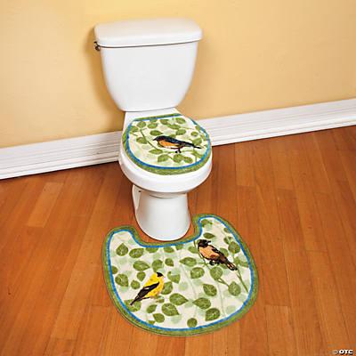Bird Toilet Seat Lid Cover Amp Contour Rug Oriental