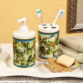 bird themed bathroom accessories folat