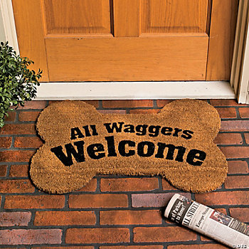 Bone-Shaped Welcome Mat