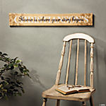 """Home is Where Your Story Begins"" Sign"