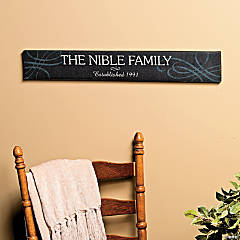 "Personalized ""Established"" Family Sign"