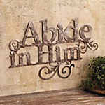 """Abide in Him"" Wall Decoration"
