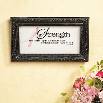 "Pink Ribbon ""Strength"" Wall Décor"