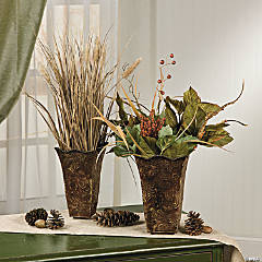Fall Leaf Embossed Buckets