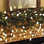 Vine with White Leaf Lights