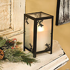 Tall Branches Frosted Candleholder