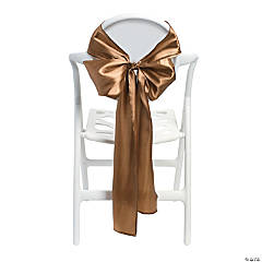 Satin Gold Chair Bows