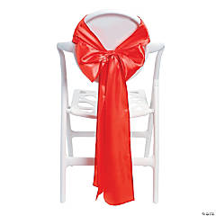 Red Satin Chair Bows