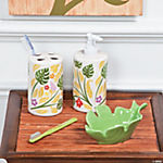Palm Leaf Bathroom Accessories
