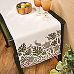 Palm Leaf & Turtle Table Runner
