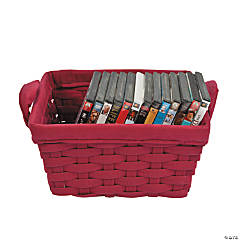 Red Woven Fabric Baskets