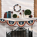 "Canvas ""USA"" Pennant Banner"