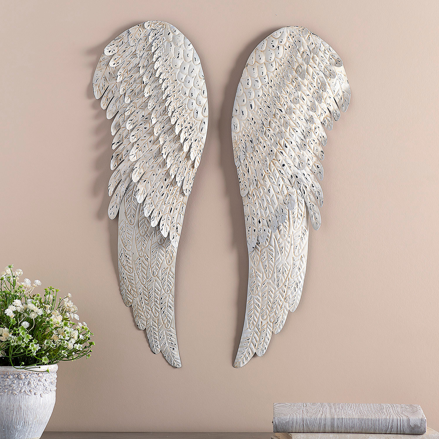 Home decor accents holiday decorations accessories for Angel wings wall decoration
