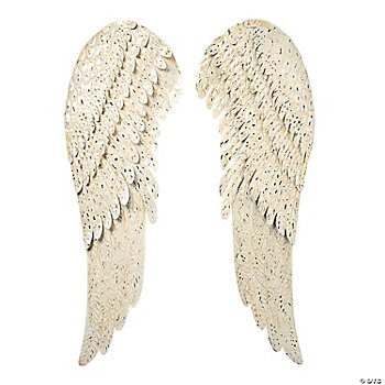 Metal angel wings wall d cor for Angel wings wall decoration