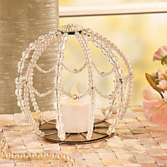 Round Beaded Candleholder