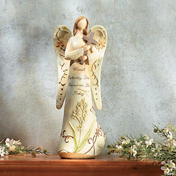 """Cherish Yesterday"" Angel with Cross"