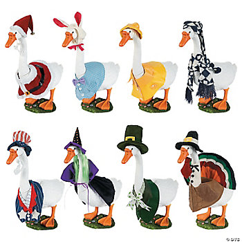 Goose with Seasonal Wardrobe, Garden Accents, Outdoor - Terry's ...