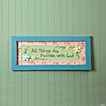 """All Things Are Possible with God"" Sign"